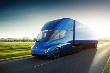 Bierdistributie in futuristische Tesla's