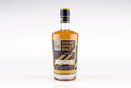 Young Single Malt, Triple Cask, crafted by the Milk & Honey distillery,  Tel Aviv, Israel, 46% alc.